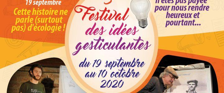 Festival des idées gesticulantes : 3 octobre – De la fourche à la fourchette… Non ! L'inverse !